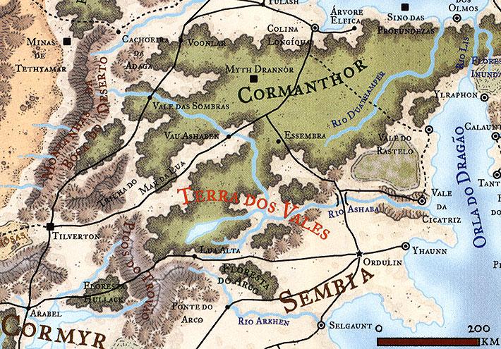 Calendario Faerun.Os Cavaleiros Da Costa Mapa Da Terra Dos Vales